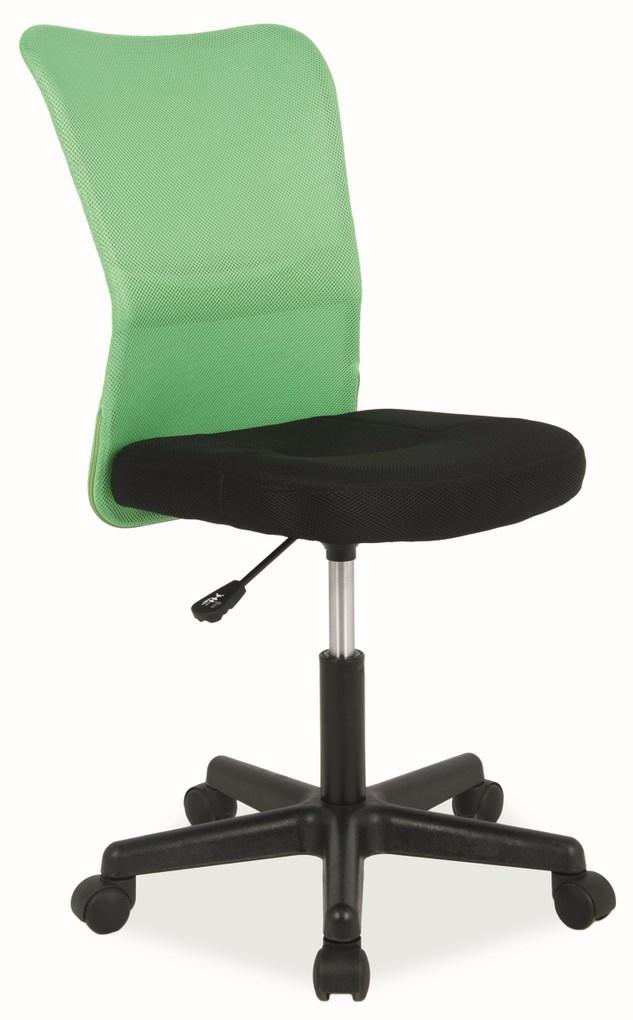 Kancelárska stolička Q-121 čierna/zelená