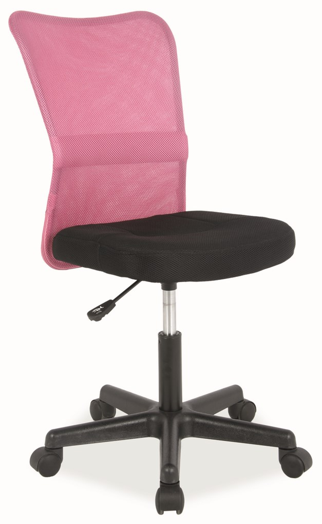 Kancelárska stolička Q-121 čierna/růžová