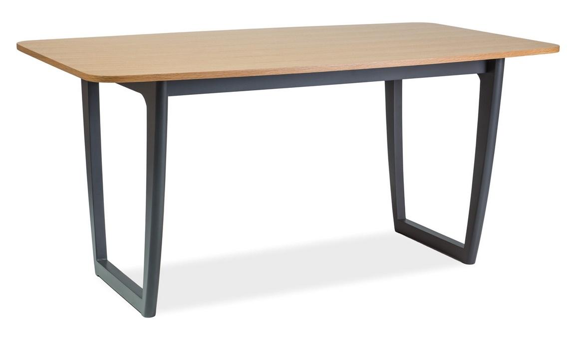 Jedálenský stôl QUADRO 160 dub/grafit