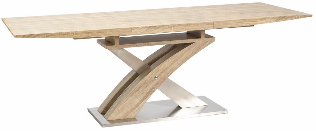 Jedálenský stôl RAUL rozkladací dub sonoma