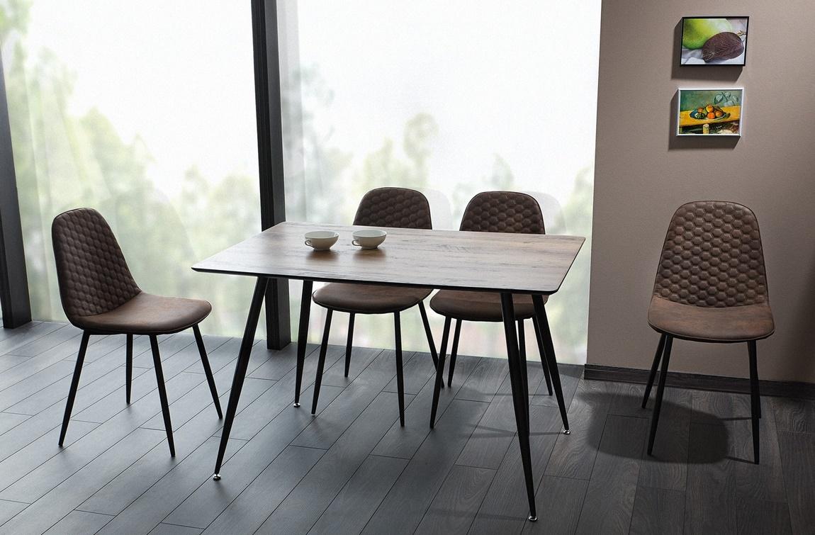 Jedálenská čalúnená stolička TEO D hnedá