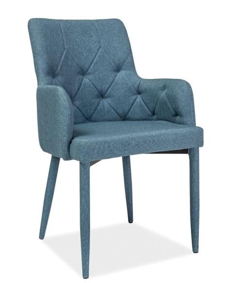 Jedálenská čalúnená stolička RICARDO denim