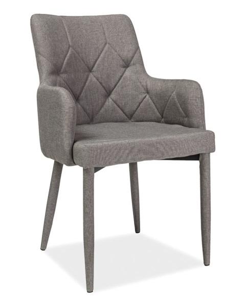 Jedálenská čalúnená stolička RICARDO šedá