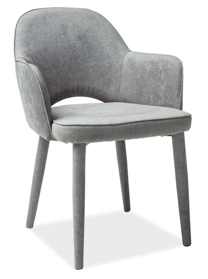 Jedálenská čalúnená stolička ROBIN šedá
