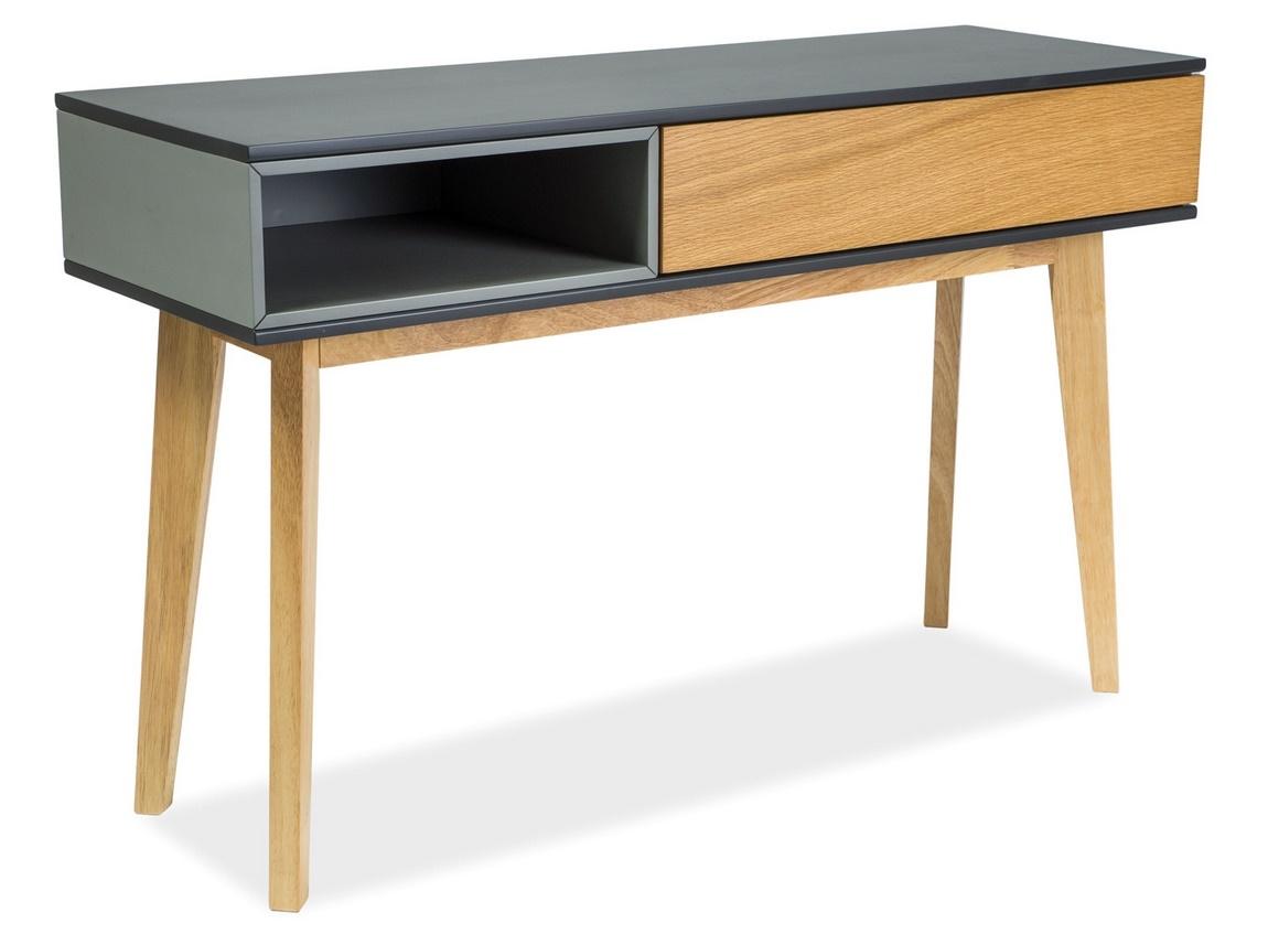 Konzolový stolek ROMA C grafit/šedá/dub