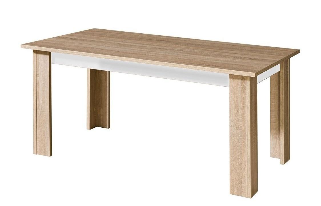 Rozkládací jedálenský stôl CARMELO C11 sonoma/biela lesk
