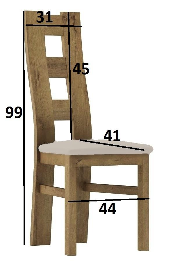 Čalúnená stolička I dub stirling/Victoria 20