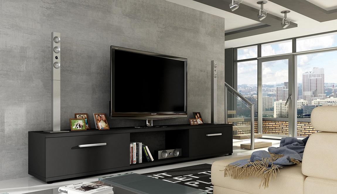 TV stolík MALTON černá mat