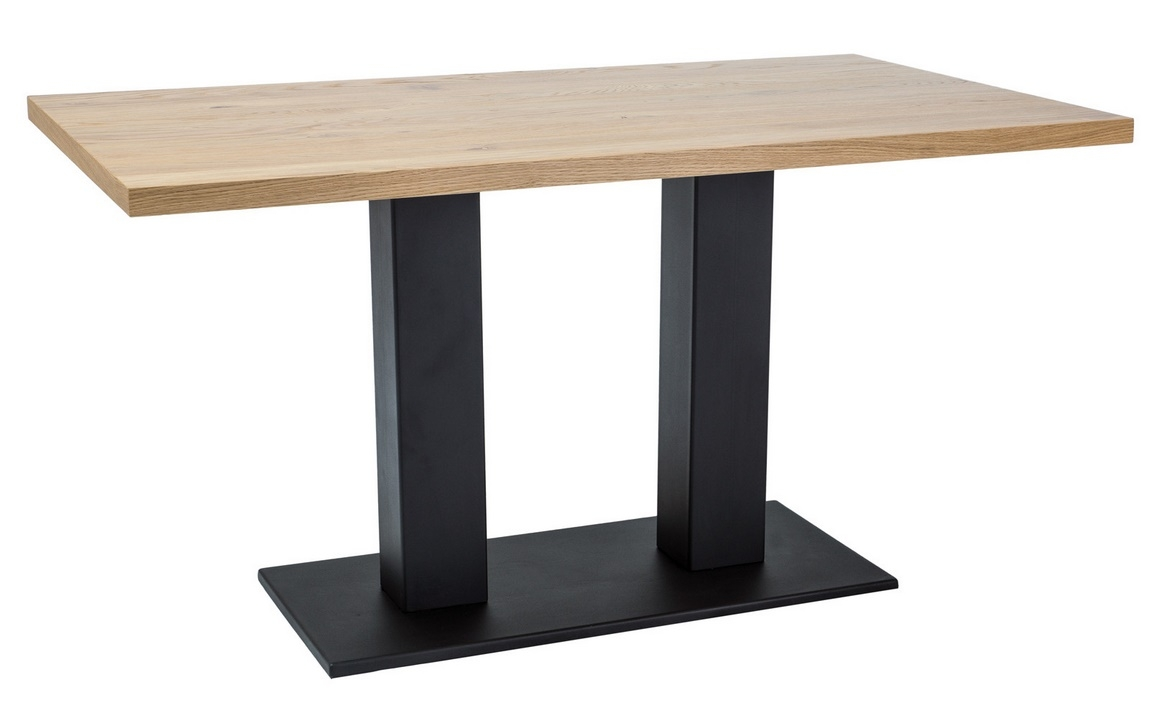 Jedálenský stôl SAURON dub masiv 120x80 cm