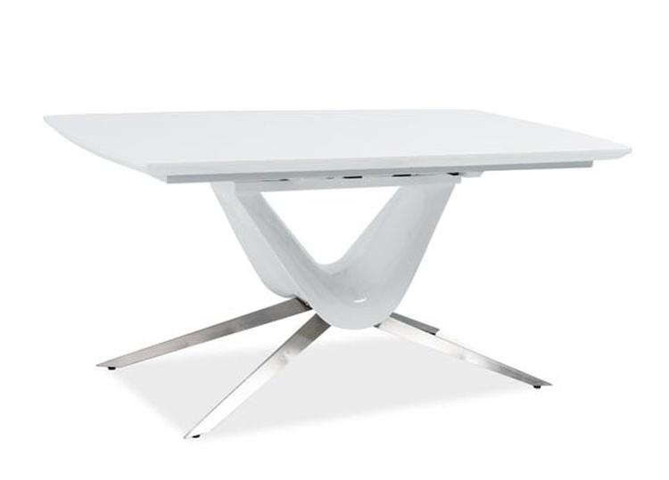 Jedálenský stôl SAVINO rozkladací biely