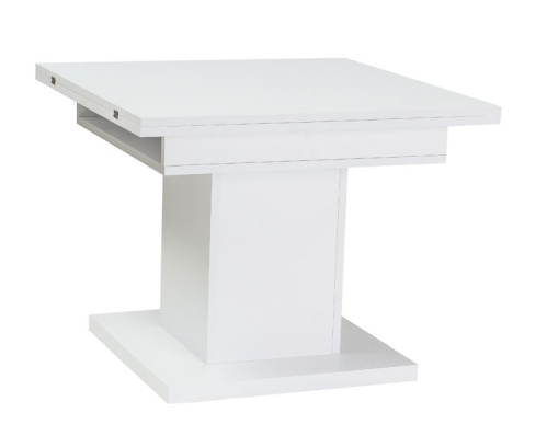 Jídelní/konferenční stůl SCALA rozkládací - bílá
