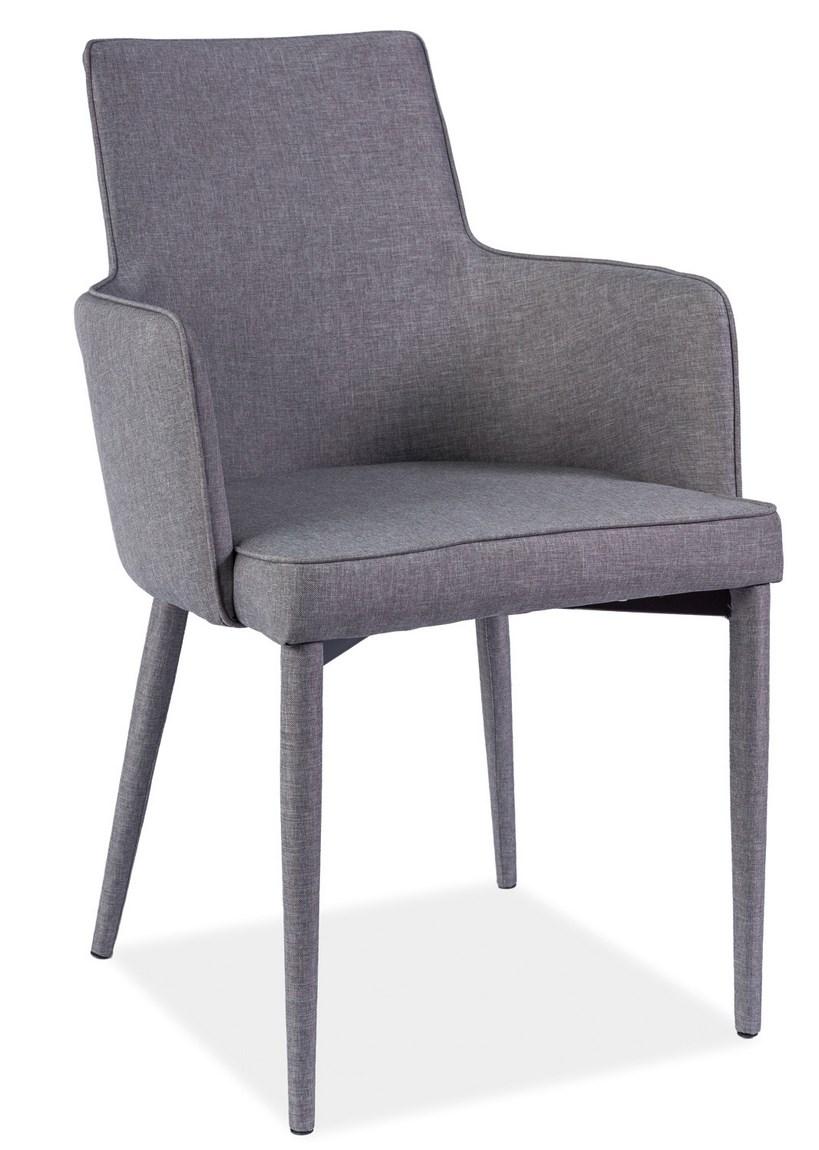 Jedálenská čalúnená stolička SEMIR šedá