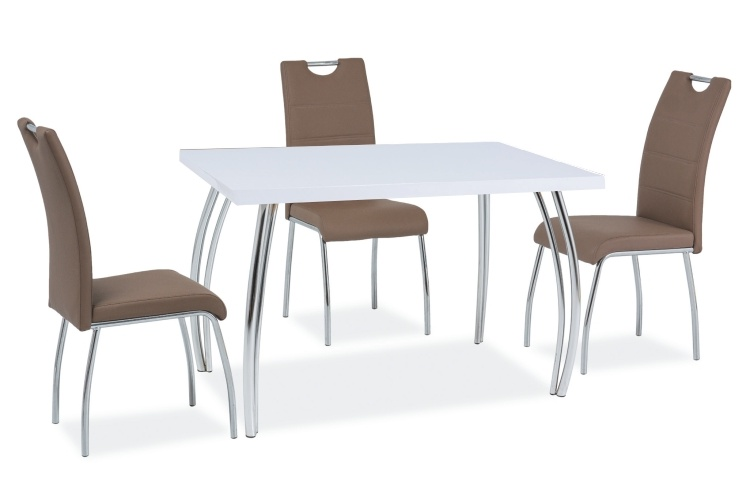 Jedálenský stôl SK-2 102x64 biely lesk