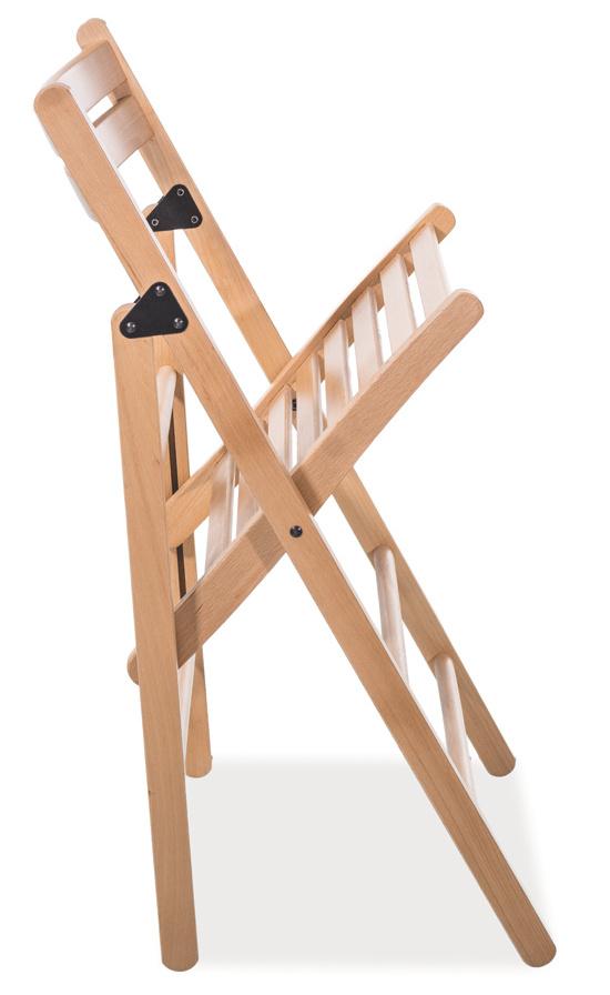 Drevená skladacia stolička SMART II tmavý orech