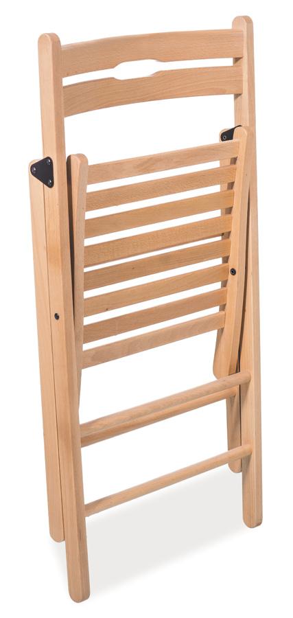 Drevená skladacia stolička SMART II biela