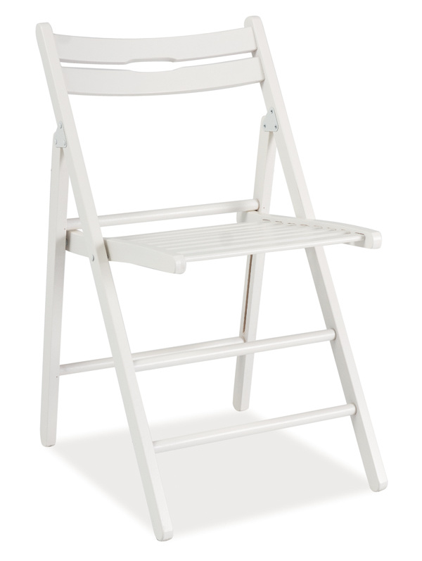 Drevená skladacia stolička SMART biela