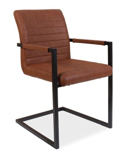 Jedálenská čalúnená stolička SOLID hnedá