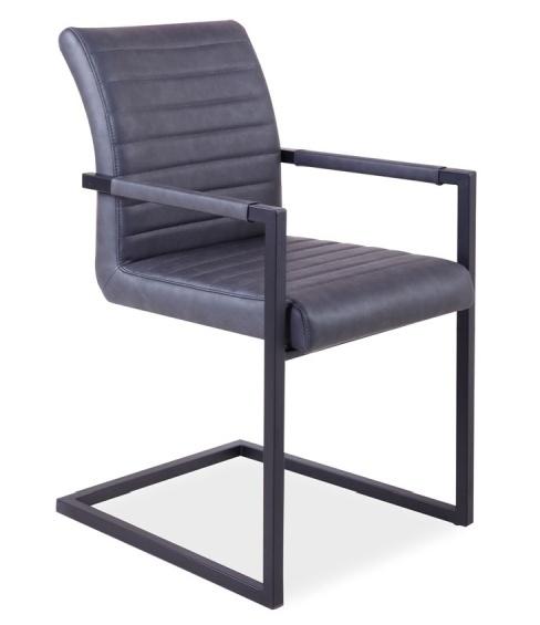 Jedálenská čalúnená stolička SOLID šedá