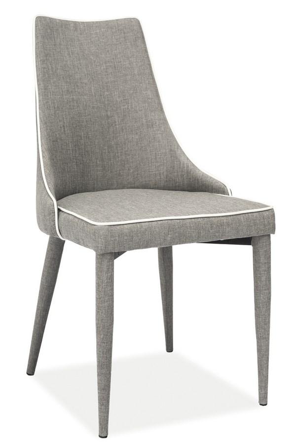Jedálenská čalúnená stolička SOREN šedá