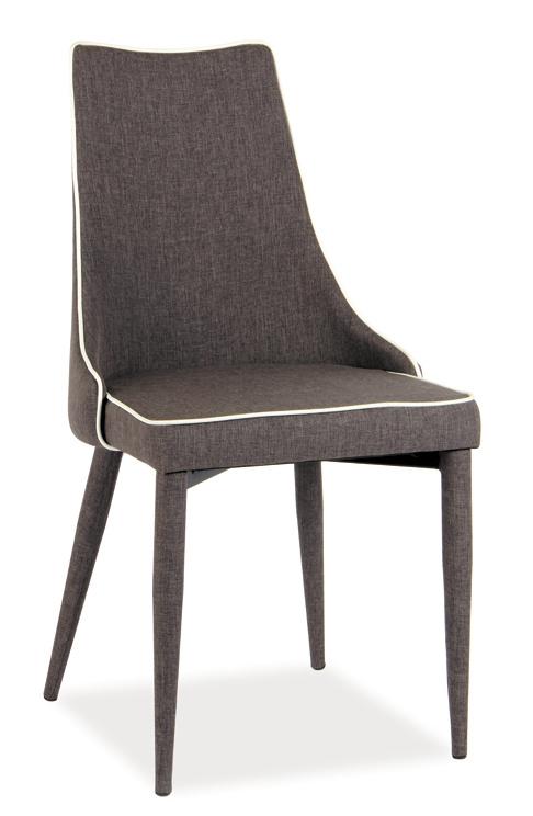 Jedálenská čalúnená stolička SOREN sv. hnedá látka
