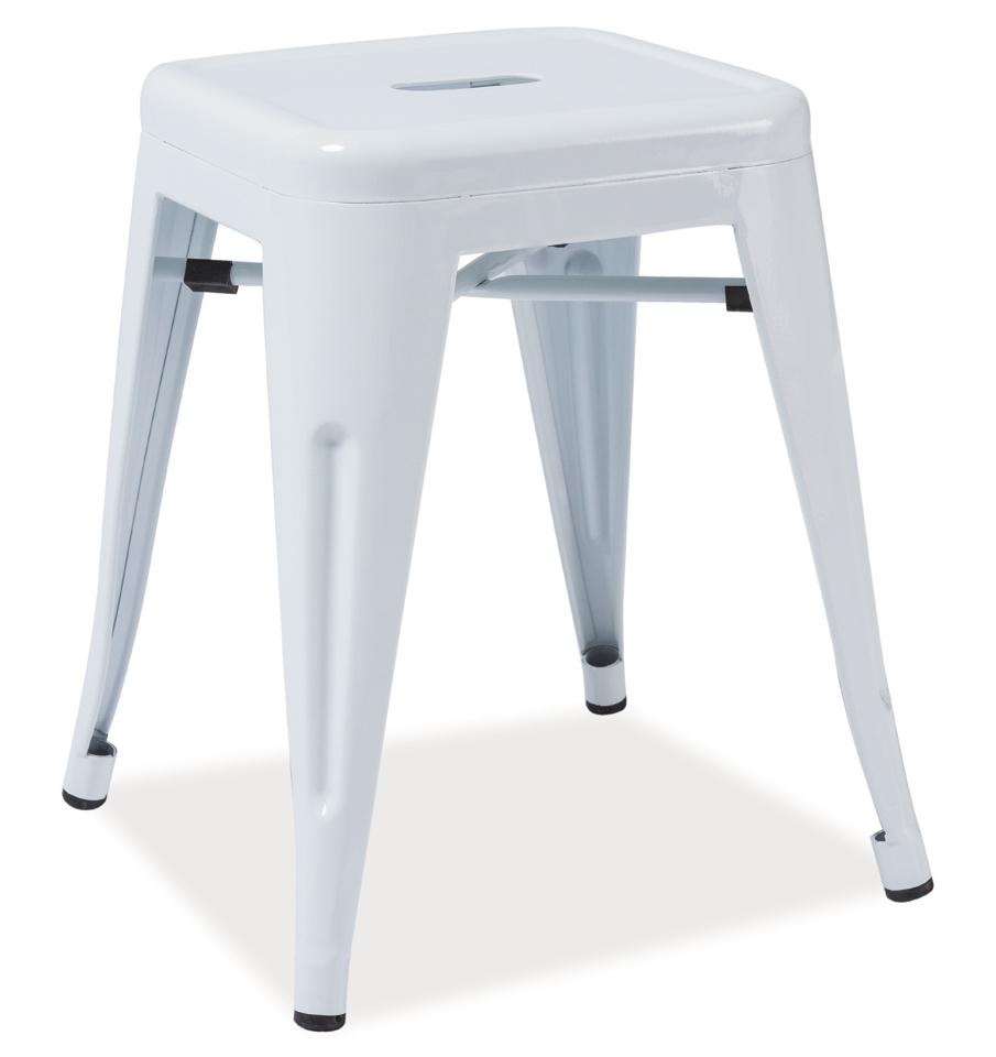 Kovový taburet - Stolík SPOT biela