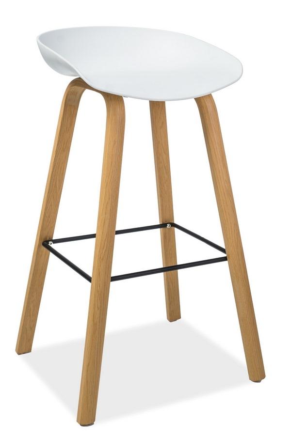 Barová stolička STING dub/biela