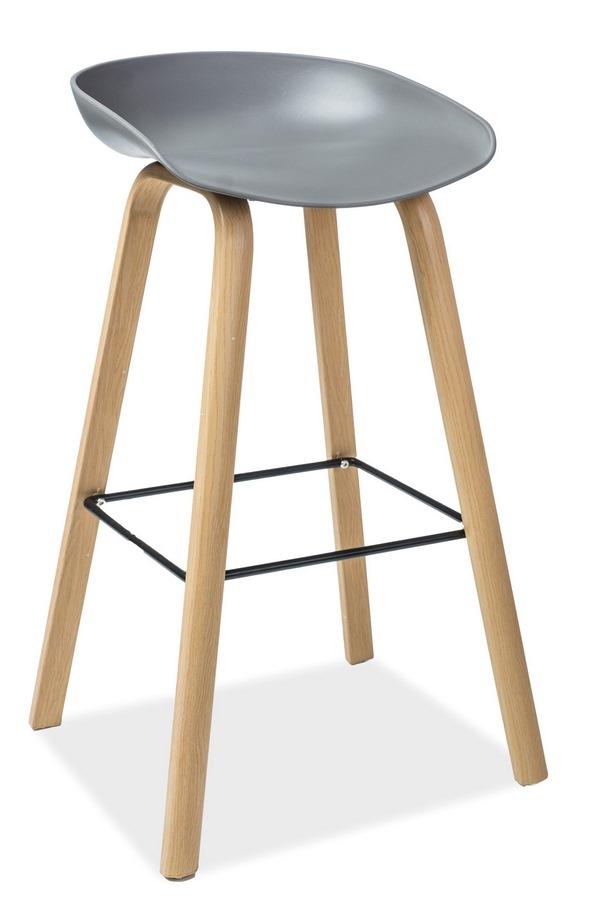 Barová stolička STING dub/šedá