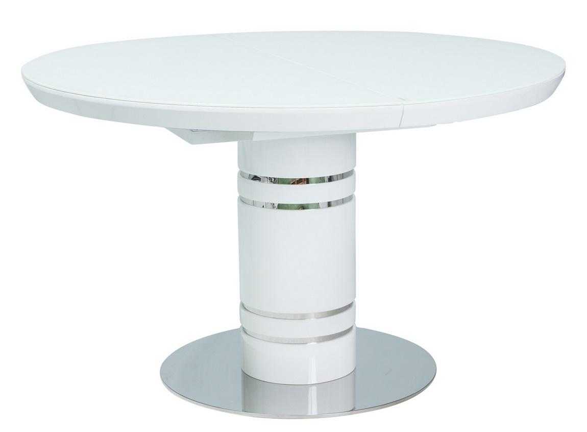 Jedálenský stôl rozkladací STRATOS 120 biely