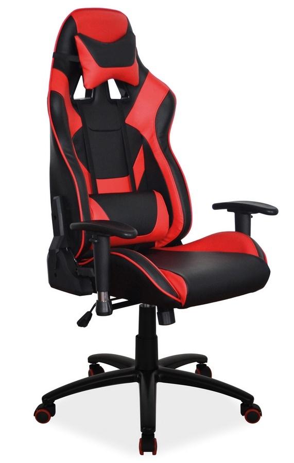 Kancelárske kreslo SUPRA červená/čierna
