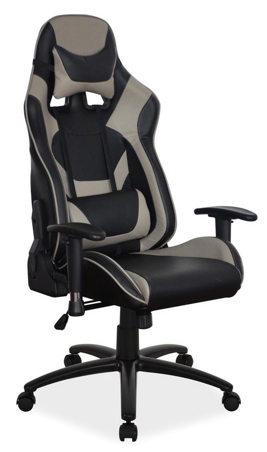 Kancelárske kreslo SUPRA šedá/čierna