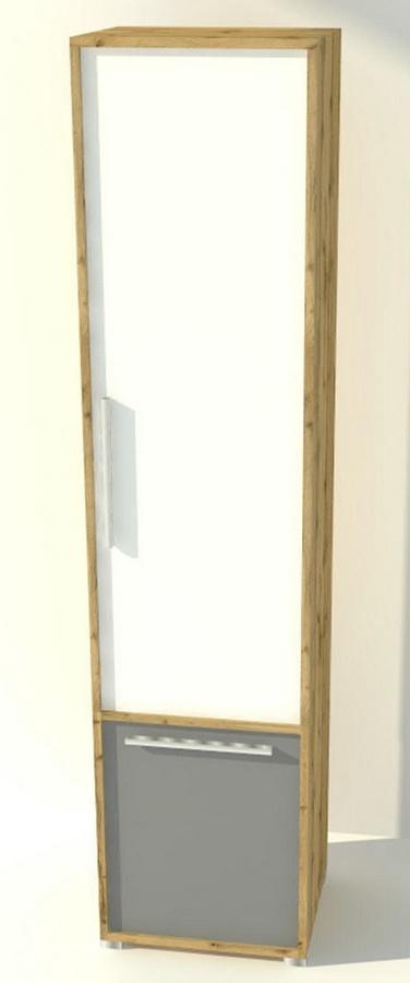 Policová skříň JOY 02 dub wotan/bílá