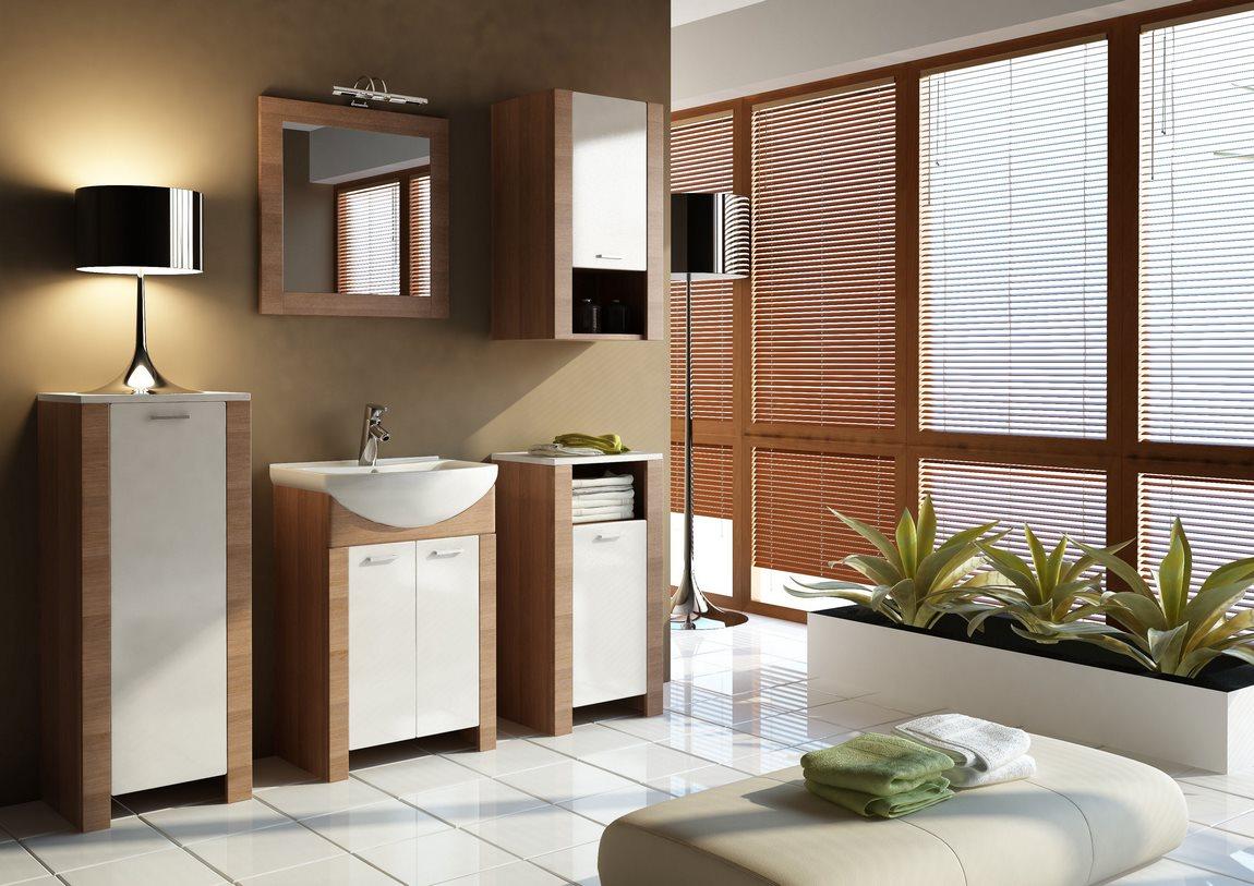 Kúpelňová zostava TALIA akácie/vanilka