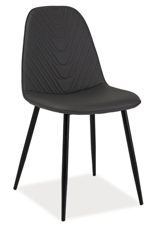 Jedálenská čalúnená stolička TEO A šedá