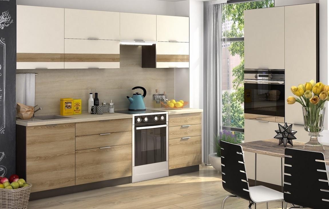 Kuchyně TERRA 260 smrk/vanilka s 3D páskem