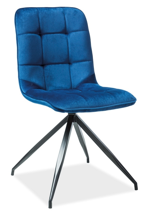Jídelní čalouněná židle TEXO VELVET modrá