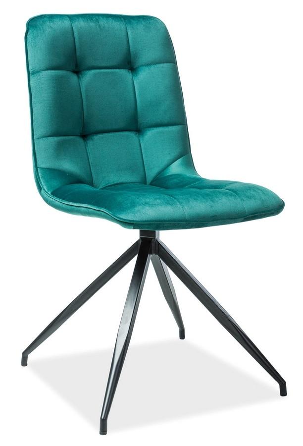Jídelní čalouněná židle TEXO VELVET zelená