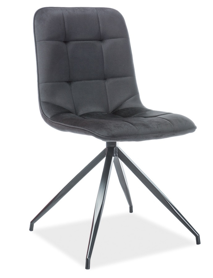 Jedálenská čalúnená stolička TEXO VELVET čierna