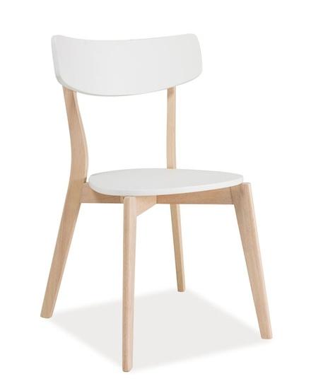 Jedálenská stolička TIBI biela/dub