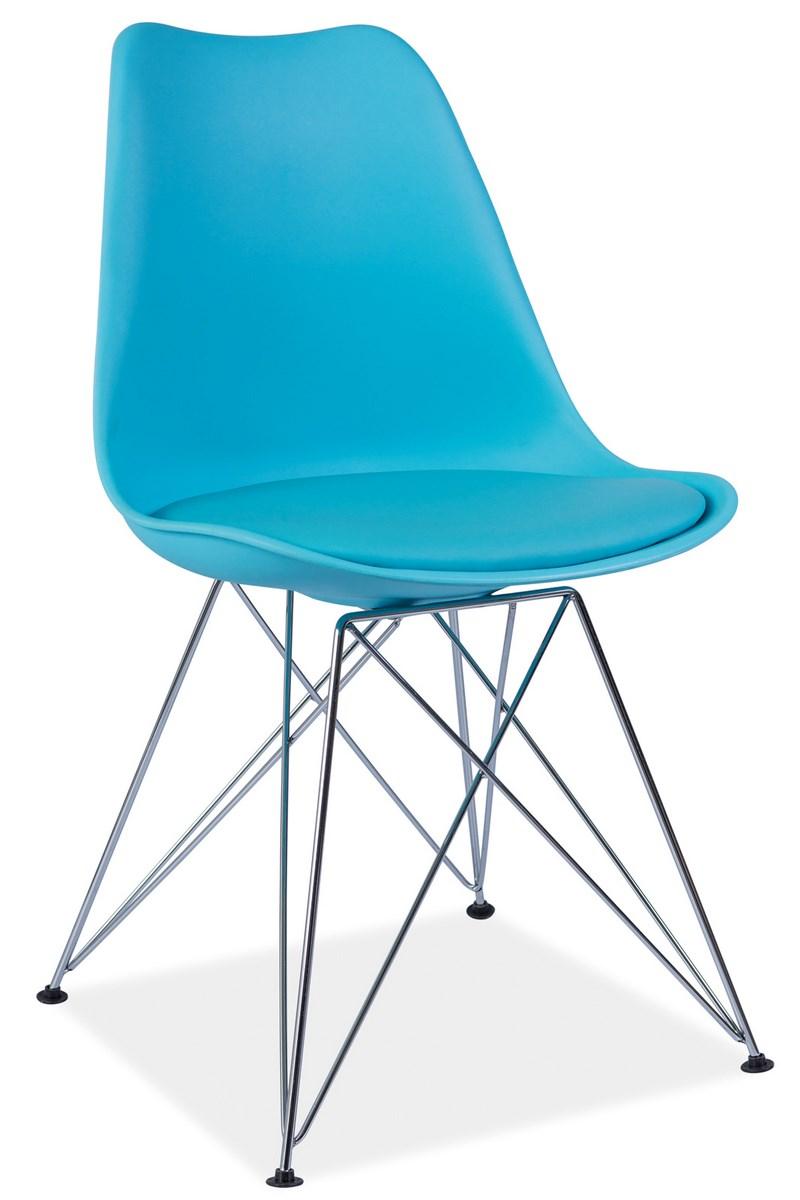 Jedálenská stolička TIM modrá