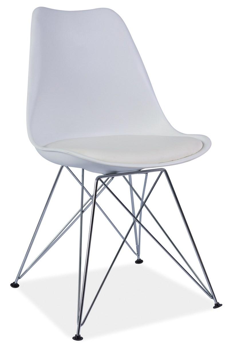 Jedálenská stolička TIM biela