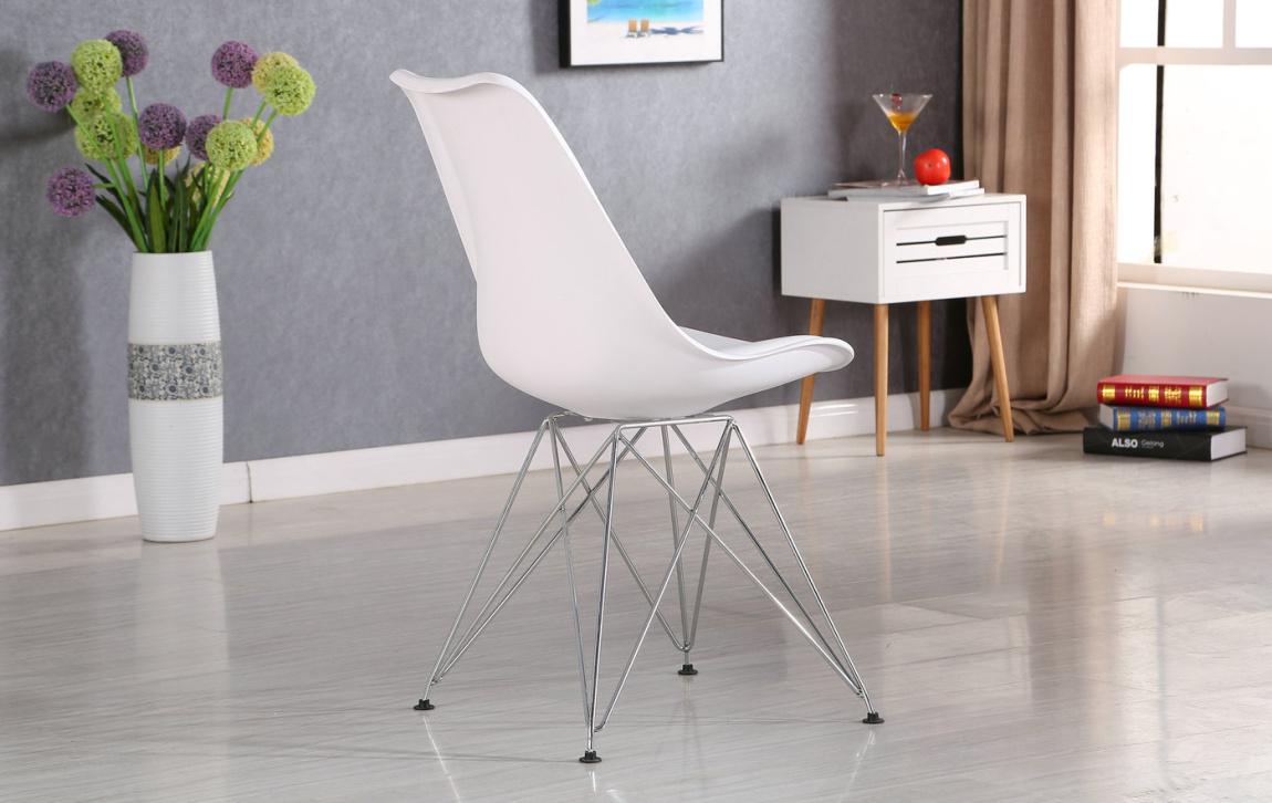 jedálenská stolička TIME biela