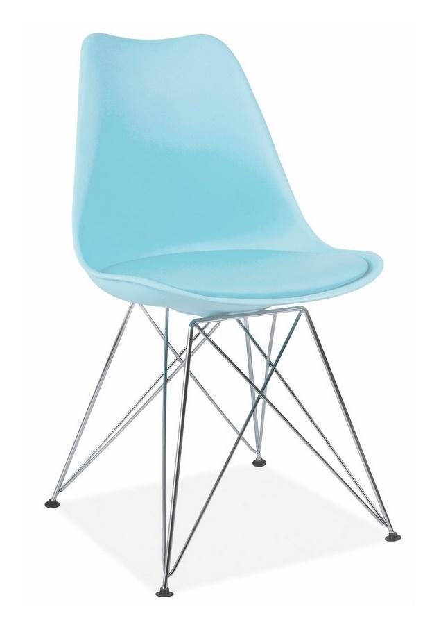 jedálenská stolička TIME světle modrá