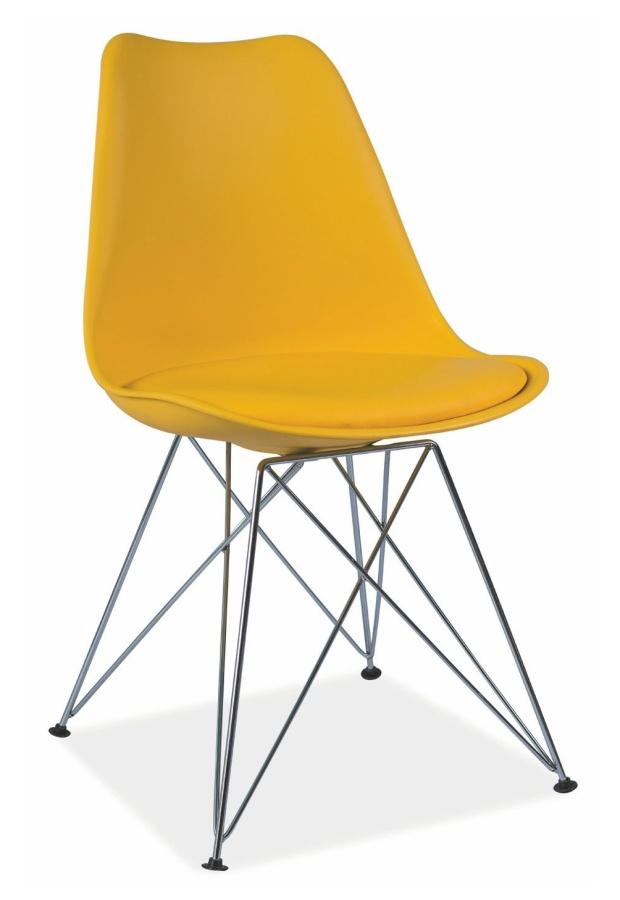 jedálenská stolička TIME žlutá