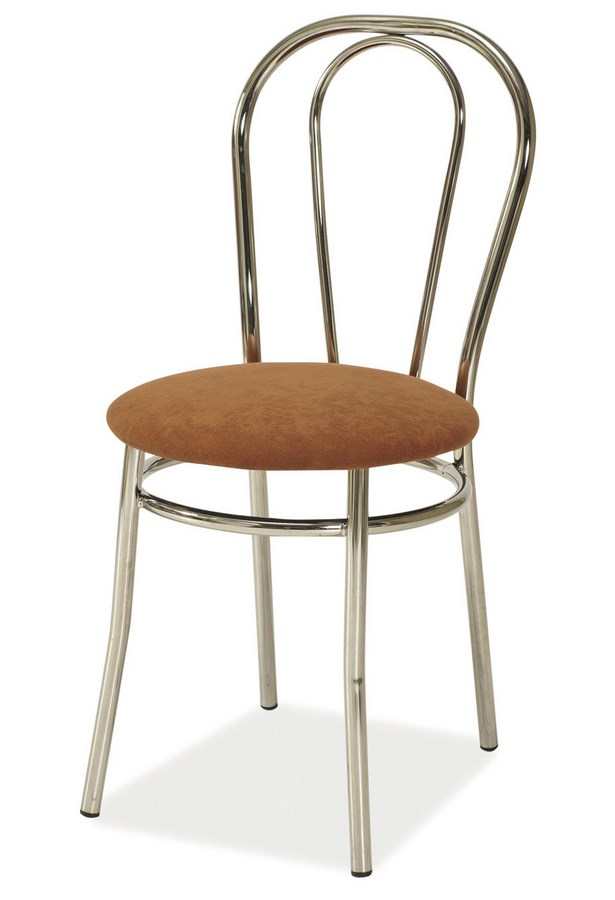 Jedálenská čalúnená stolička TINA hnedá