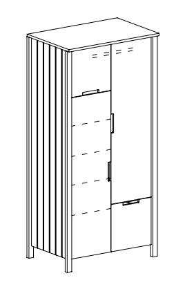 šatníková skriňa TO-1