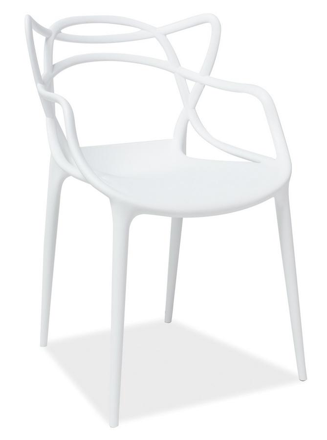 Jedálenská stolička TOBY biela - NA SKLADE!