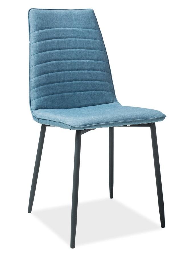 Jídelní čalouněná židle TOMAS modrá denim
