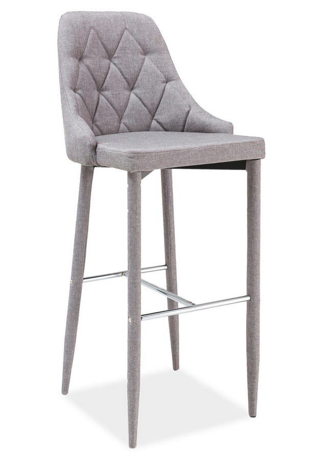 Barová Čalunená Stolička TRIX šedá