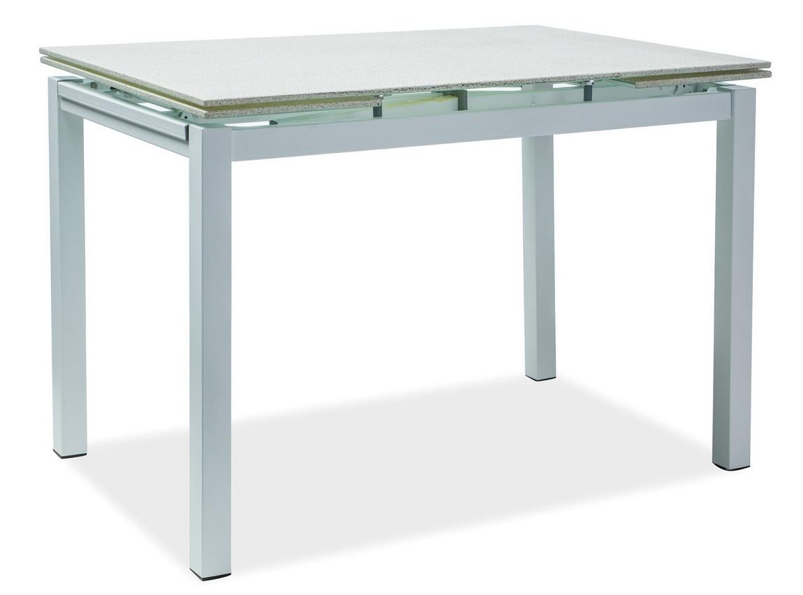 Jedálenský stôl TURIN rozkládací biely