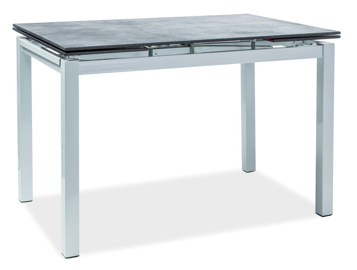 Jedálenský stôl TURIN rozkládací čierna/biela